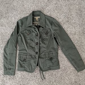 Lucky Brand army green utility jacket